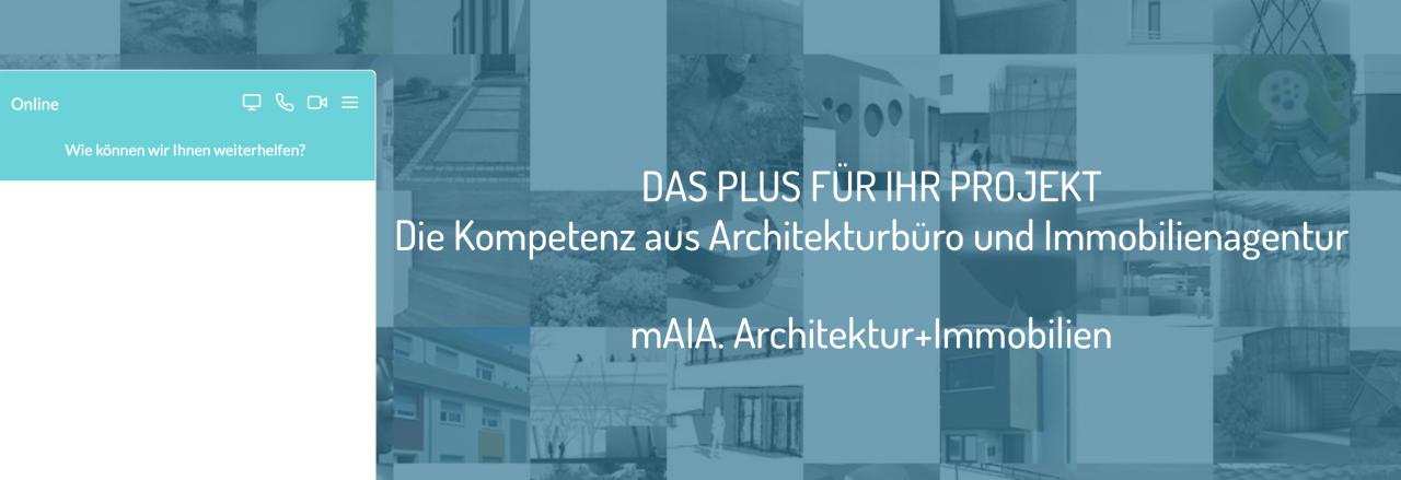 Persönliche Information an alle Kunden von mAIA. Architektur+Immobilien
