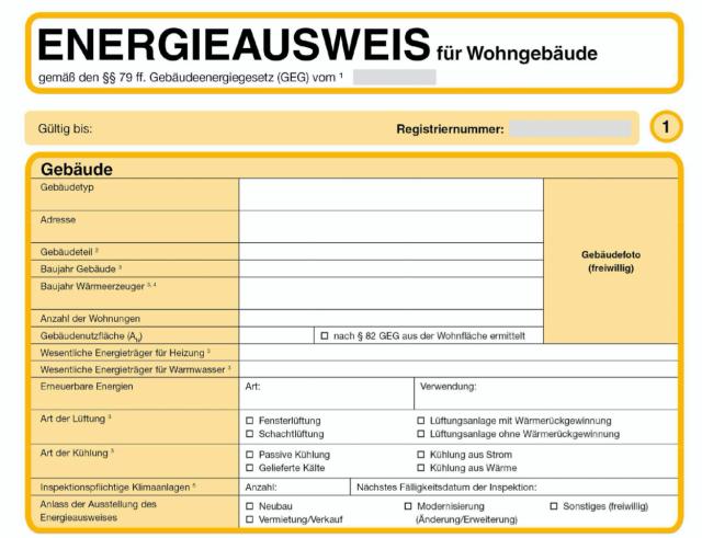 Gebäudeenergiegesetz: Neue Muster von Energieausweisen